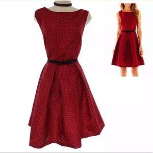 18 2X NWT▪️RED POLKA DOT DRESS W/POCKETS Plus Size